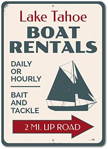 Cartel de metal vintage con diseño de flecha personalizada para barco de...