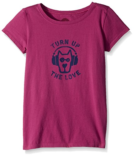 Life Is Good Turn Up The Love Crusher T-Shirt (Petits Enfants/Grands Enfants), Garçon, 52258, Sassy Magenta, L
