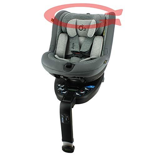 Silla de coche I-Size O3 LITE con rotación de 360° - 40-105 cm - NADO x MIGO (gris)