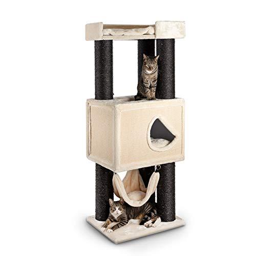 CanadianCat Company ® | XXL Kratzbaum Winsor I - in beige - speziell für große und schwere Katzen