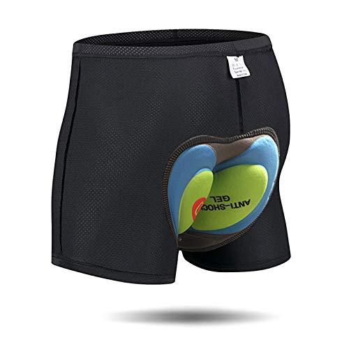 Pantaloncini Corti da Bicicletta Bici da Ciclismo 4D Imbottitura Antibatterica in Gel di silice Ciclismo Cinture da Bicicletta Underwear MTB Bike Short Pants (4D, L) (Verde, M)