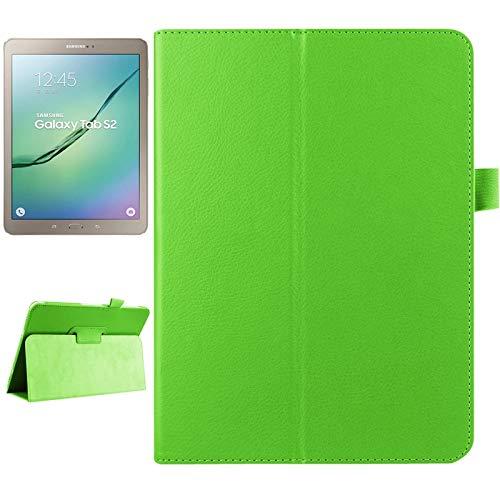 WEI RONGHUA Fundas de Tableta Funda de Cuero Inteligente en Color Liso con Tapa Horizontal de Textura de Litchi con Soporte de Dos Plegables y función de suspensión/Reposo para Samsung Galaxy Tab