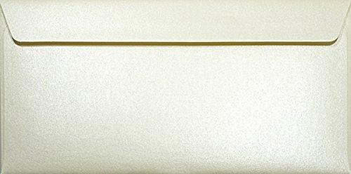 25 Perlmutt- Creme DL DIN Lang Briefumschläge 120g, 110x220mm, Majestic Candelight Cream, gerade Klappe, ideal für Hochzeit, Geburtstag, Taufe,Weihnachten, Einladungen, Gelegenheitskarten, Briefkarten