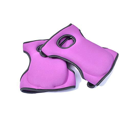 Tolyneil Knieschützer für die Arbeit, Komfortable Knieschützer für Schrubbböden Garten BAU - Kniendesign - Mehrzweckschwamm Anti-Rutsch-Schutzknieschoner (Purple)