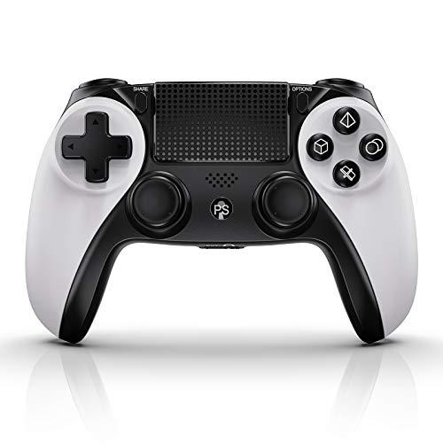 KINGEAR Manette de jeu sans fil pour PS4, PS4 Pro/Slim avec 6 axes Gyro Motion, double vibration, écran tactile et fonction audio [version améliorée 2020]