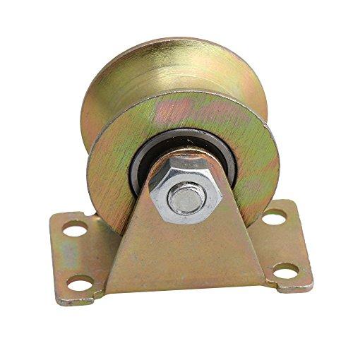 Liebeck 49 mm Durchmesser gelb 45# Stahl U Nut Starres Laufrad Stahllager mit 661 lbs Kapazität für industrielle Wagen