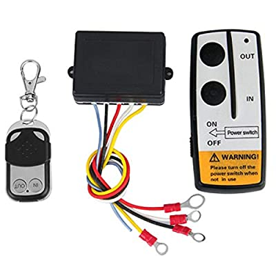 Qook Wireless Winch Remote Control Kit for Car Truck Jeep ATV SUV 12V Switch Handset 50Ft