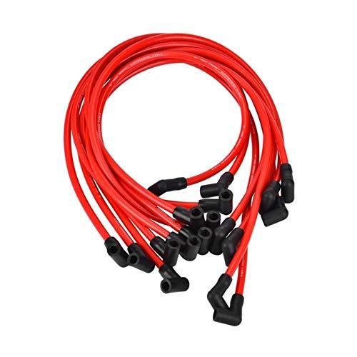 AIYISITELU Conjunto de Alambre de la bujía de 10,5 mm, Alambre de Encendido de Alto Rendimiento Ajuste para Chevrolet Am FIT FOR General Isuzu Hei SBC BBC 350 (Color : Red Black)