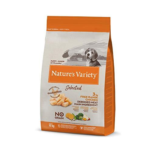 Nature's Variety Selected - Pienso para perros junior con pollo campero deshuesado 10 Kg