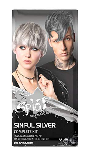 Splat | Sinful Silver | Complete Silver Hair Dye Kit | Semi-Permanent | Long Lasting | Vegan and Cruelty-Free