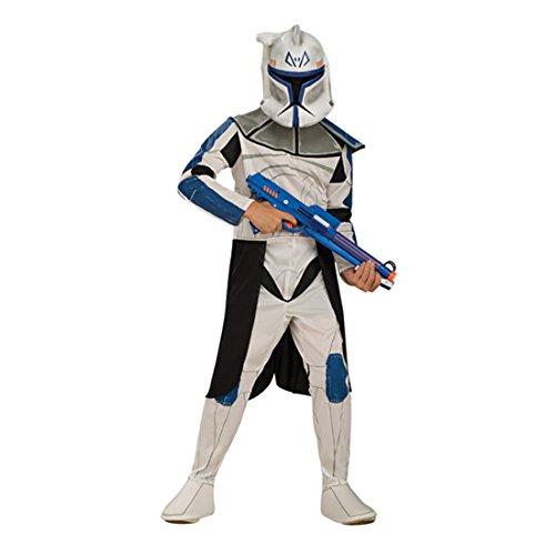 Amakando Captain Rex Kostümset Star Wars Kinderkostüm M 128 cm Lizenzartikel Clone Trooper Faschingskostüm Clone Wars Klonkrieger Outfit