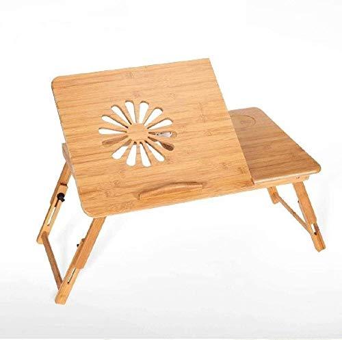 Mesa de madera ajustable para cama portátil, disipadora de calor, rotación automática, portátil, cama, ordenador, escritorio, portátil, plegable, soporte de mesa