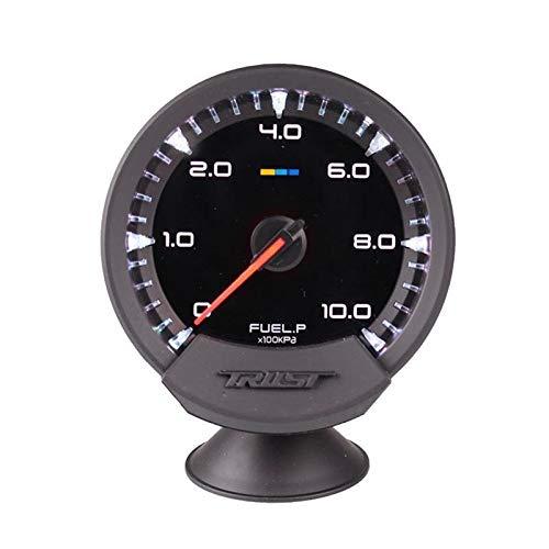 U/D HKRSTSXJ 60mm 2,5-Zoll-Selbstlehre 7 Farben Turbo-Boost-Volt Wassertemperatur Temp Öl Öl Presse Fuel Gauge (Color : Fuel Pressure Gauge, Size : Kostenlos)