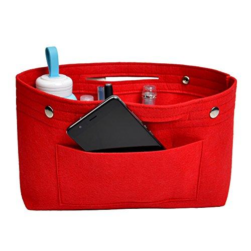 NOTAG Taschenorganizer Handtasche Kosmetik Organizer Tasche Organizer Leichte Große Kapazität Aufbewahrungstasche Accessoires Kosmetiktasche 6 Farben (S, Rot)