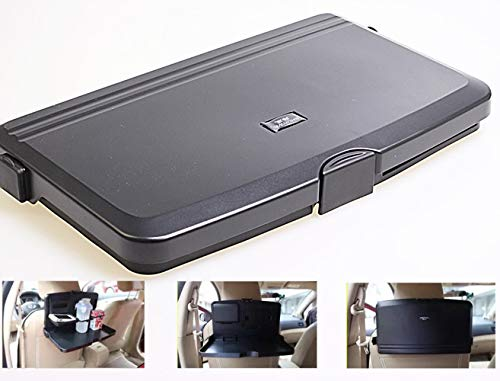 QMZDXH Food Tray for Car Back Seat, Car Seat Tray Table Rear Facing Car Backseat Organizer Foldable Tray for Eating Food