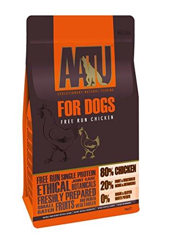 AATU 80/20 Comida Seca para perro, Pollo, Alto en proteínas, Receta libre de cereales, Sin ingredientes artificiales, 10 kg