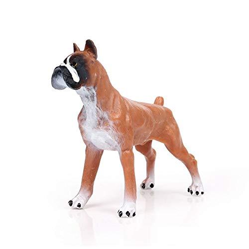Hging Modelo de perro Modelo de perro realista, estatuillas de perros Juguete de juguete de alta simulación modelo de animal Boxer de juguete Modelo de perro Decoración de oficina para el hogar Regalo