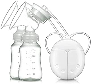 Breast Pump Electric Breast Pump Frequency Conversion Mute USB Charging Bilateral BPA-Free & 100% Food Grade Double Chest ...