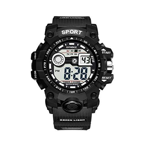 VJGOAL Unisex Uhren, Damen und Herren Classic Cool Watch Multifunktional Großer Bildschirm Wasserdicht Elektronische Uhr