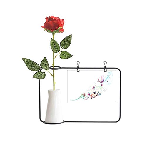 Beauty Gift Hoja Fuego Globo Sombrero Cámara Acuarela Pintura Artificial Rosa Flor Colgante Floreros Decoración Botella