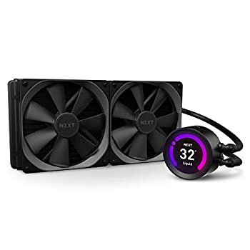NZXT Kraken Z63 280mm - RL-KRZ63-01 - AIO RGB CPU Liquid Cooler - Customizable LCD Display - Improved Pump - Powered by CAM V4 - RGB Connector - AER P 140mm Radiator Fans  2 Included