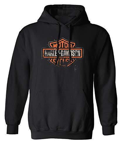 HARLEY-DAVIDSON Herren Hoodie Sweatshirt mit Kapuzze Hoody Patina Bar & Shield, XL