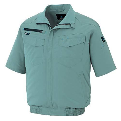 アイトス AITOZ 半袖ブルゾン(空調服TM)(男女兼用) AZ2998 027 ターコイズ 5L