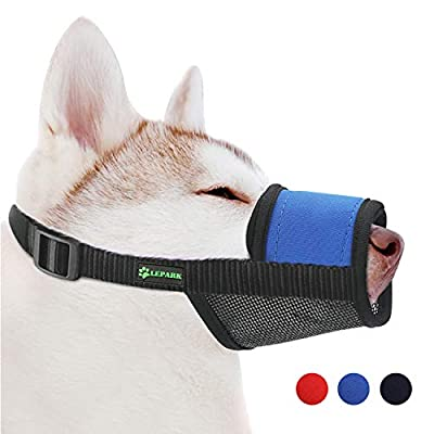 ILEPARK Soft Dog Muzzle Adjustable with Hook & Loop for Medium Small and Large Dogs,Flexible Muzzles to Prevent Biting, Barking and Chewing from Yiwu Tongyan Electronic Commerce Co.Ltd.