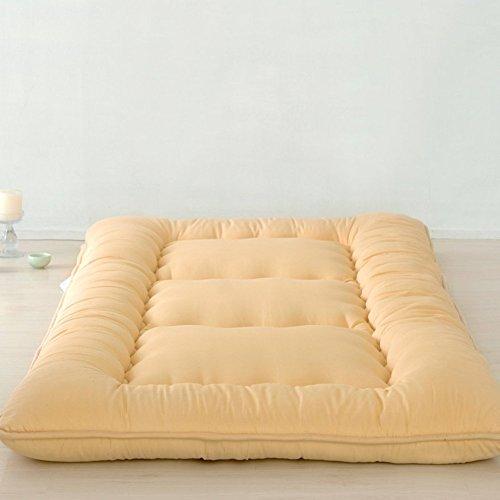YLCJ Japanse Tatami-matras, gewatteerde matras, opvouwbare matras, eenpersoonsbed met dubbele dikte voor studenten - 120 x 200 cm