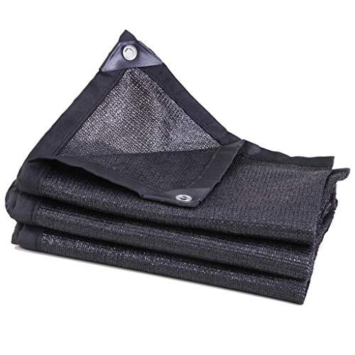 Brook Road Sunblock zonweringnet ATRE Summer zonwering 80% Black Shade Cloth, schaduwdoek UV-bestendig scherm net met oogje scherm naden broeikas zonnescherm, 6 x 21 ft / 2 x 7 m