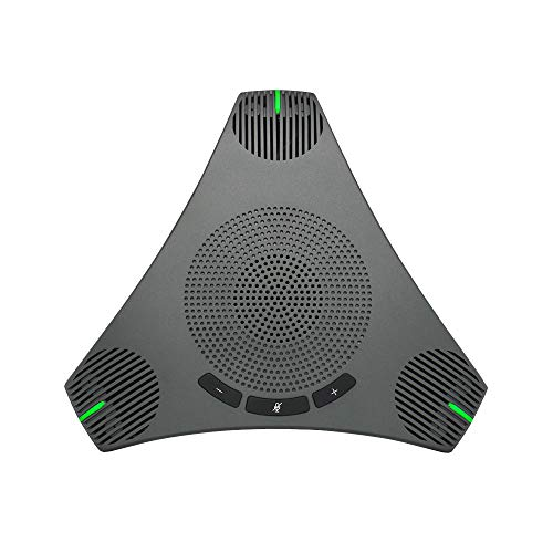 USB Speakerphone Microphone for 8-10 People Business Conference,360° Omnidirectional Microphone for Skype Business of Microsoft Lync,VoIP Calls,Webinar,Phone,Call Center,Recording