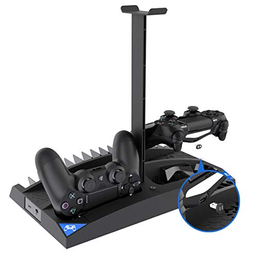 iFCOW 6-en-1 controlador multifunción soporte de carga ventilador juego discos rack para PS4/Slim/PRO
