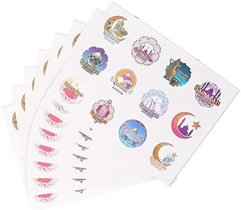 PRETYZOOM 24Pcs Eid Mubarak Kleurrijke Stickers Ramadan Papier Wikkelen Etiketten Stickers Voor Mindere Bairam Party Decoraties