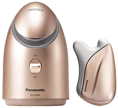 パナソニック ギフトセット スチーマー ナノケア & 美顔器 温感かっさ ゴールド EH-SA4PCM-GN