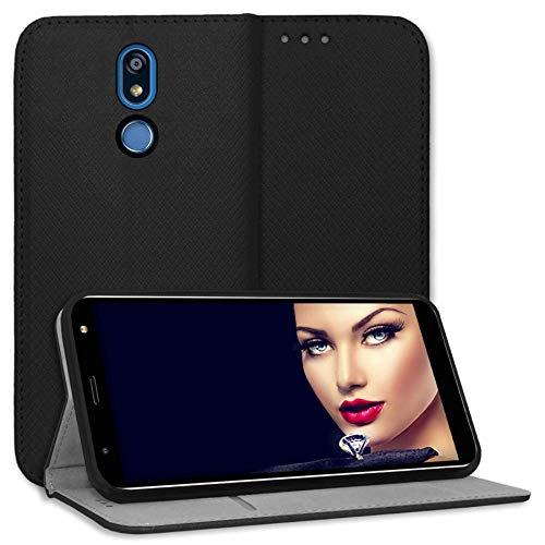 mtb more energy® Schutz-Tasche Bookstyle für LG K40 (LM-X420, 5.7'') - schwarz - Kunstleder - Klapp-Cover Hülle Wallet Hülle