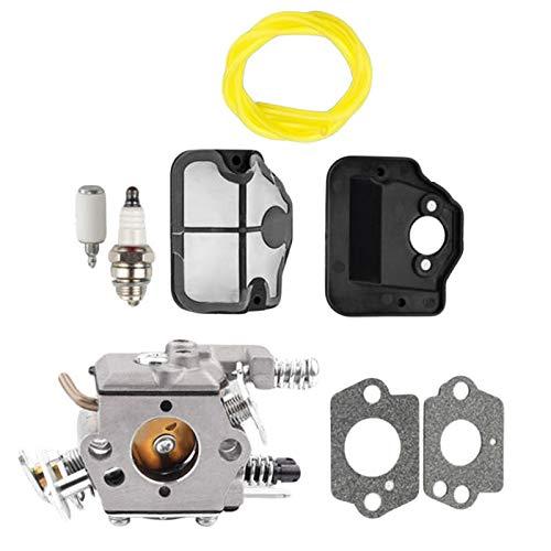 BGTR Accesorios de moto Kit de reparación de la herramienta de alimentación del filtro de aire del carburador de las partes de la motosierra Compatible con Husqvarna 36 41 136137 141 141 142 WT-834 WT