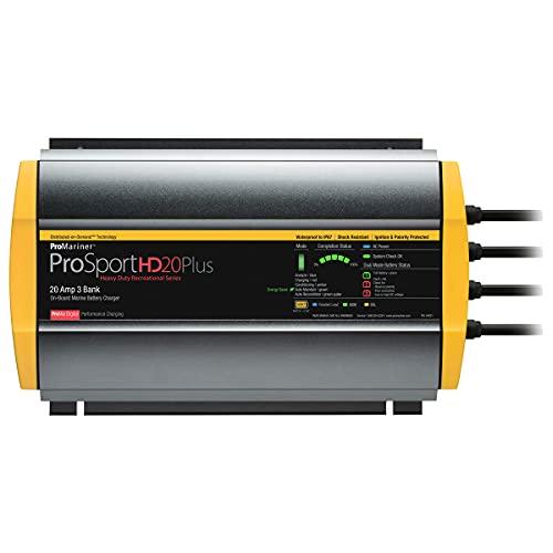 ProMariner ProSport HD 20 Amp Triple Bank Waterproof Marine Battery Charger, 44021