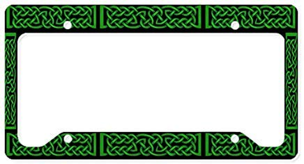 LilithCroft99 Funny Celtic Knot Green License Plate Frame Chrome Metal,Novelty License Plate Cover,Auto License Car Tag Holder, Gifts for Men,for Women,Wife,Husband