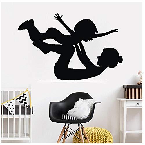 MINGKK Stickers muraux Mère et bébé gymnastique Wall Sticker Art Stickers muraux pour bébé enfants chambre de bébé chambre Sport Room Decor 57x92 cm