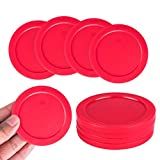 Super Z Outlet Home Air Hockey Red Replacement 2.5' Pucks for Game Tables, Equipment, Accessories (4 Pack)