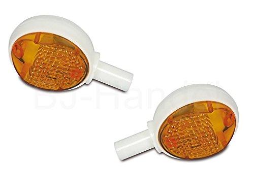 SET 2x Blinker für Simson Schwalbe KR51 Lenkerblinkleuchte 8580.26, kpl. (incl. 6V Soffitte)