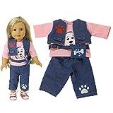 ZOYLINK Puppen Outfit Puppenhose Doll Tops Cartoon Kleidung Für 18In Doll