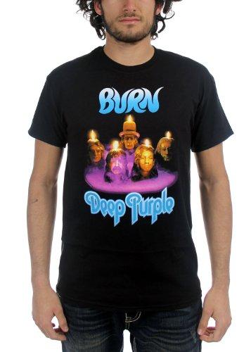 Deep Purple - - Hommes de brûlure T-shirt en noir, X-Large, Black
