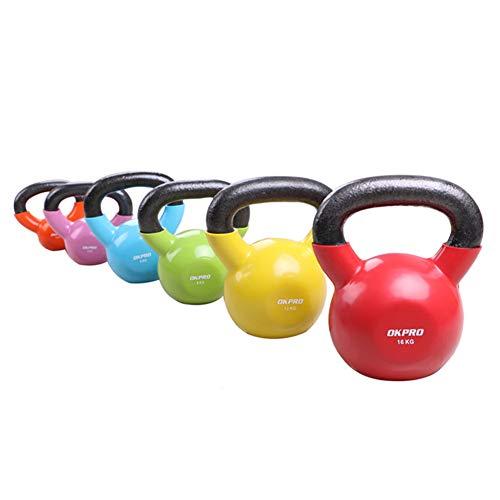 Shocly Kettlebell Gusseisen Hanteln Heben Krafttraining für Anfänger und Fortgeschrittene Geeignet für Yoga Fitness Pilates Fitness für Männer und Frauen 2kg,4kg,6kg,8kg,12kg,16kg,orange/2kg