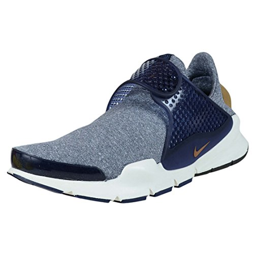 Nike Women's Sock Dart SE Midnight Navy/Golden Beige Running Shoe 6 Women US