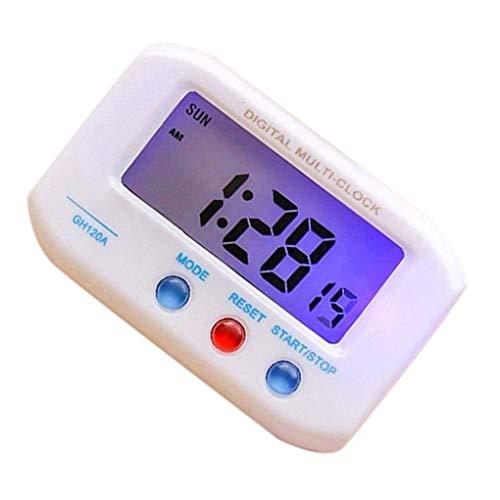 Jinzuke Portátil de Pantalla LCD de la Alarma eléctrica de Escritorio del Reloj de Tiempo electrónico de Datos del Escritorio del Calendario del Reloj