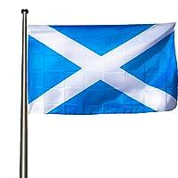 👉 1 drapeau Écosse original dimensions 90x150 cm avec 2 brass oeillets pour pouvoir accrocher soit sur un poteau, sur le balcon ou en toute sécurité de votre fenêtre 💪 En polyester solide et résistant aux intempéries avec bords cousus et points renfo...