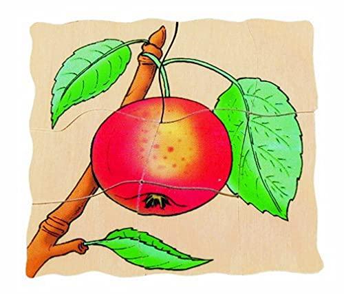 Beleduc - 17039 - Puzzle À Superposition en Bois - Pomme - 30 Pièces