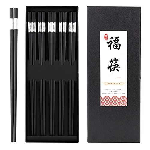 Palillos chinos reutilizables, aptos para lavavajillas, antideslizantes, diseño de flores de cerezo, 24 cm