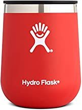 Hydro Flask 10 oz Wine Tumbler - Stainless Steel & Vacuum Insulated - Press-In Lid - Lava